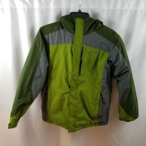 Columbia Hooded Youth Jacket GreenSz XL 18-20